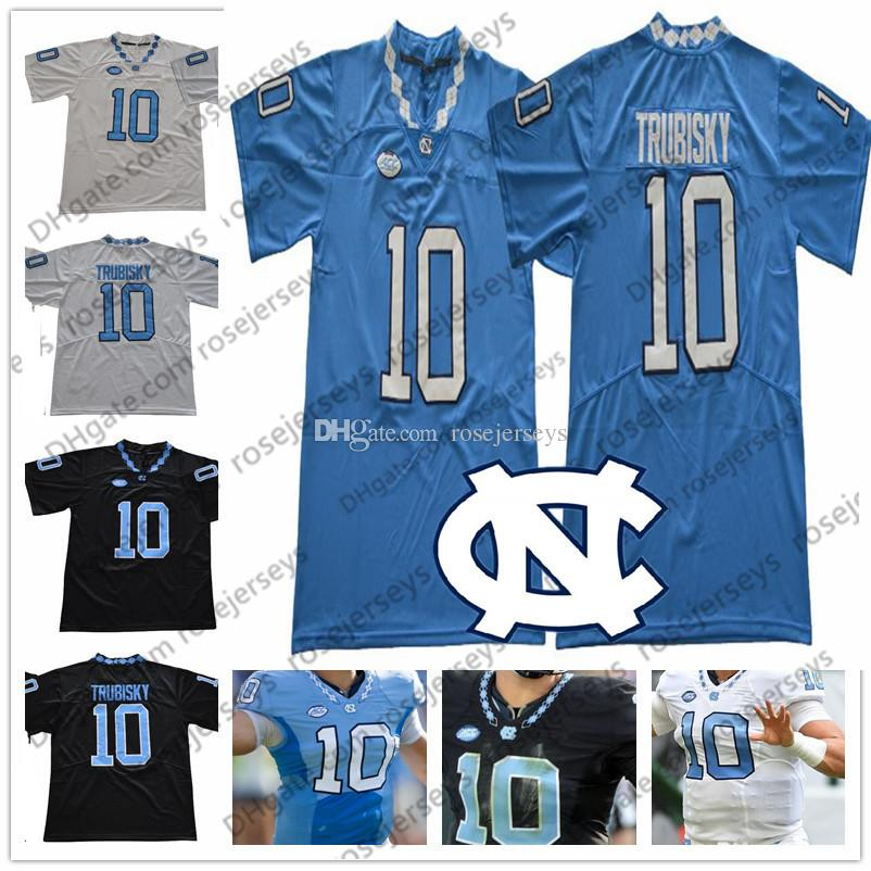 best website d38e7 39357 UNC #10 Mitchell Trubisky Light Blue Jump Jersey North Carolina Tar Heels  Black White NCAA College Football CHI Navy Orange Jerseys S-3XL