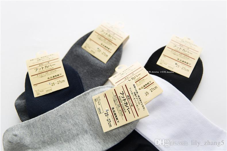 Atacado-20 pares / curto abertura dos homens meias esportivas pure color casual meia para homens 6 cores frete grátis