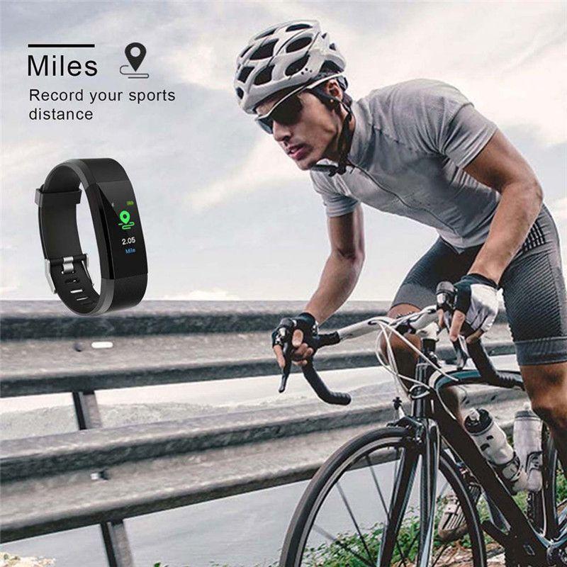 Smart Watch Screen à écran LCD ID115 Plus Bracelet intelligent Montres de remise en forme Bande Récompense cardiaque Moniteur de pression artérielle Smart Bracelet