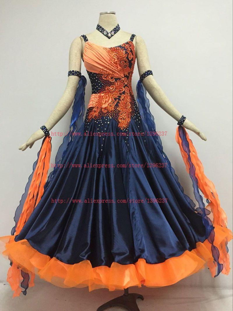 18afe3d87ee2 2019 Ballroom Competition Dance Dresses Custom Made Women Ballroom ...
