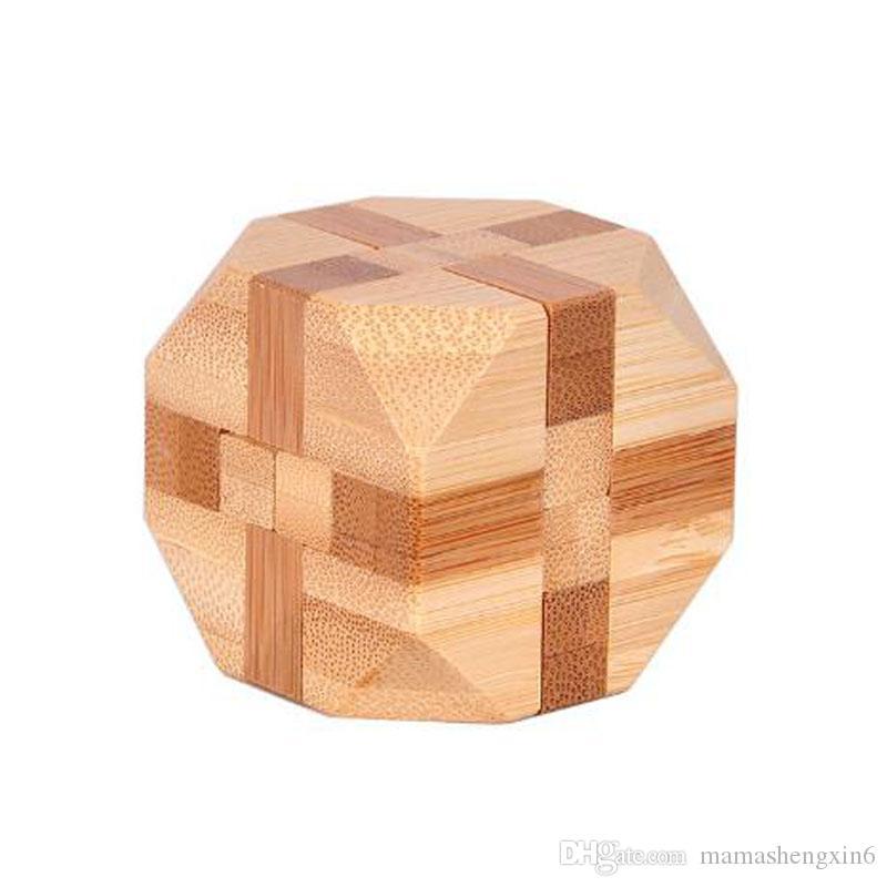 الكلاسيكية 3d الذكاء المخ دعابة خشبية الخيزران المتشابكة 3d الألغاز الذكاء المخ دعابة خشبية المتشابكة لعبة لعبة للرضع أطفال