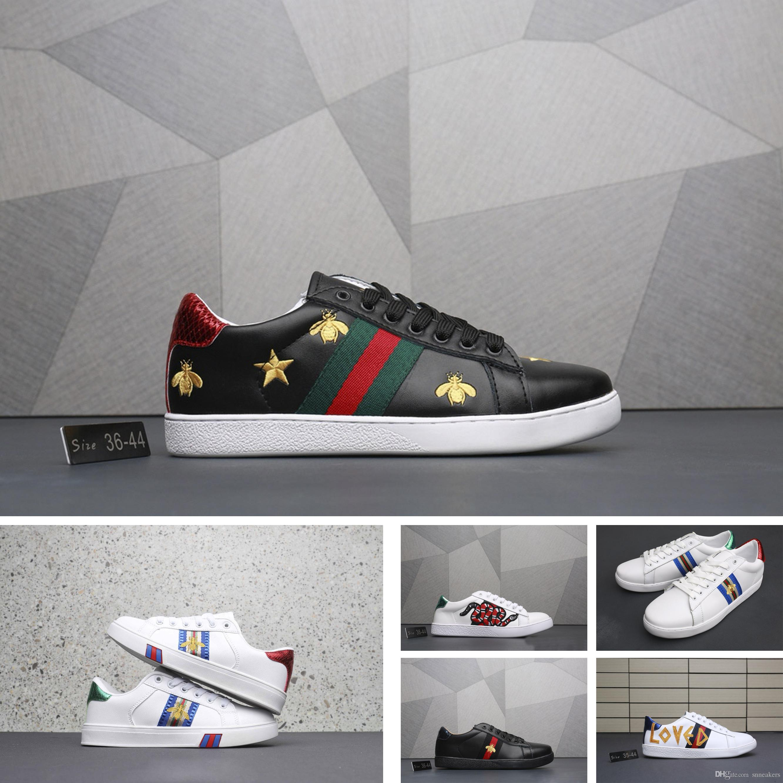 Compre Gucci Men Shoes Women Designer Tennis Shoes La Marca De Lujo Más  Vendida Bordó Letras 720132a2188