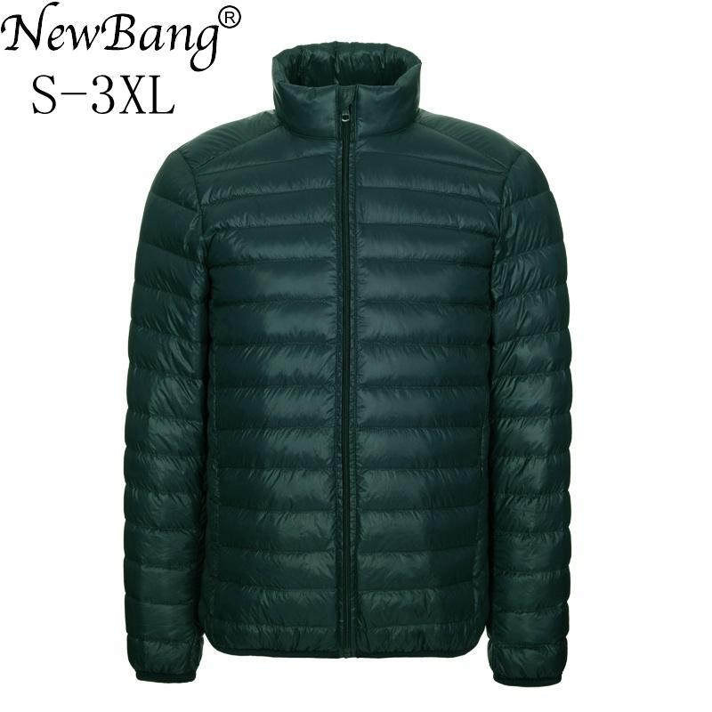 4c95b3b9d44 2019 NewBang Brang Men S Down Jacket Ultralight Down Jacket Men Stand  Collar Winter Feather Windbreaker Lightweight Warm Thin Parka Y181101 From  Zhengrui04
