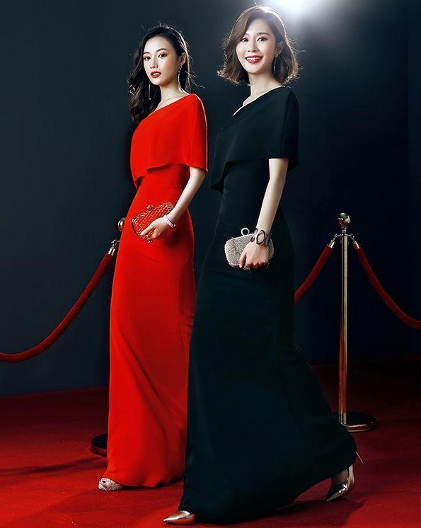 Graceful Mermaid Party Dresses Una spalla lunga Prom Dresses Red Black Arab Abiti da sera Fidanzamento Dress Cheap
