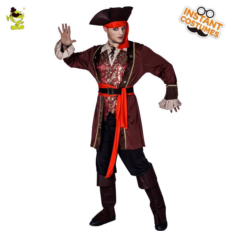 Travestimenti Halloween Uomo.Costume Da Pirata Di Lusso Da Uomo Di Halloween Party Role Play Fancy Dress Abbigliamento Da Pirata Costumi Di Alta Qualita Festa Di Carnevale