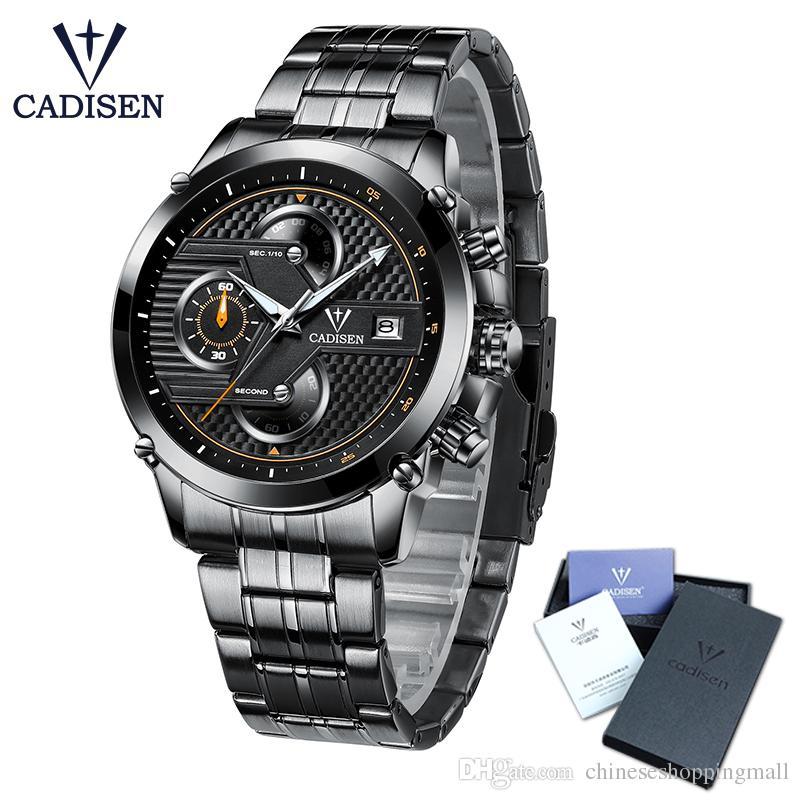 e8c11f83d5e Compre 2018 Novo Cadisen Moda Casual Relógio De Pulso De Design Militar De  Quartzo Relógios Homens Marca De Luxo Relógio Do Esporte