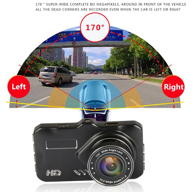 Full HD 1080P car DVR camera digital data recorder vehicle driving video camcorder 3 inch 170° WDR G-sensor motion detection parking monitor