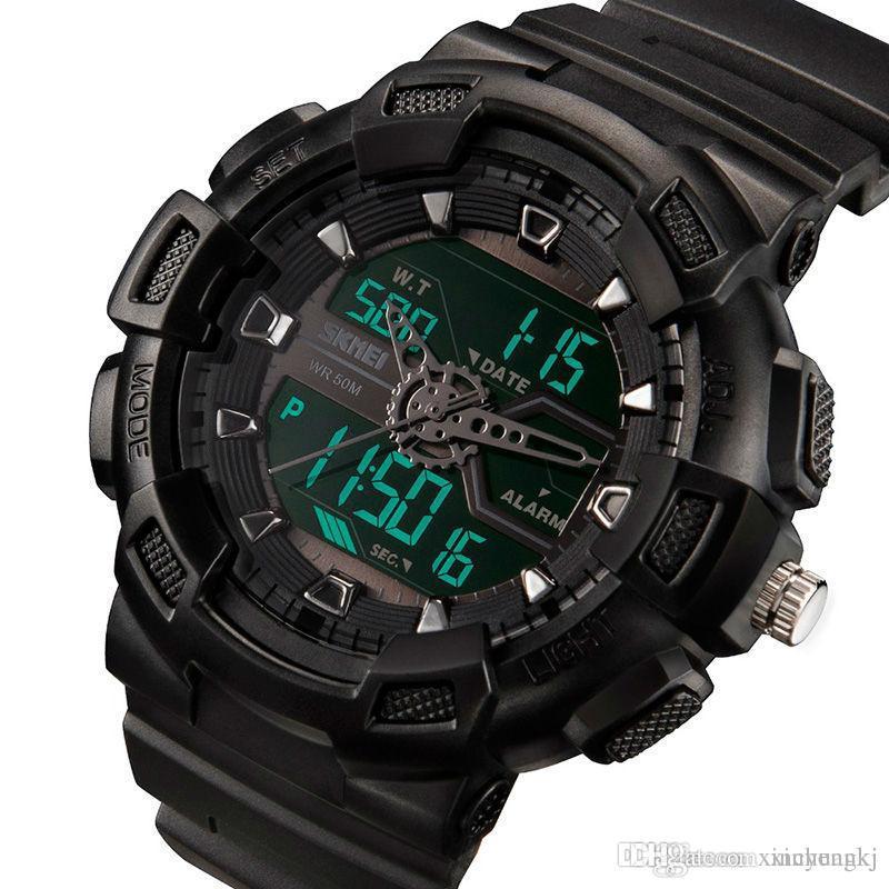 87a3f4c088e6 Compre SKMEI 1189 Reloj Digital Hombre Multifunción Impermeable LED Relojes  Deportivos Militares Dual Time Analógico Digital Casual Hombres Relojes De  ...