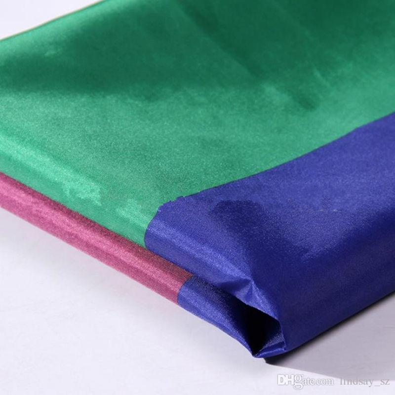 Rainbow Flag 90x150cm Lesbian Gay Pride Polyester LGBT Flag Banner Polyester Colorful Rainbow Flag Para la decoración envío rápido