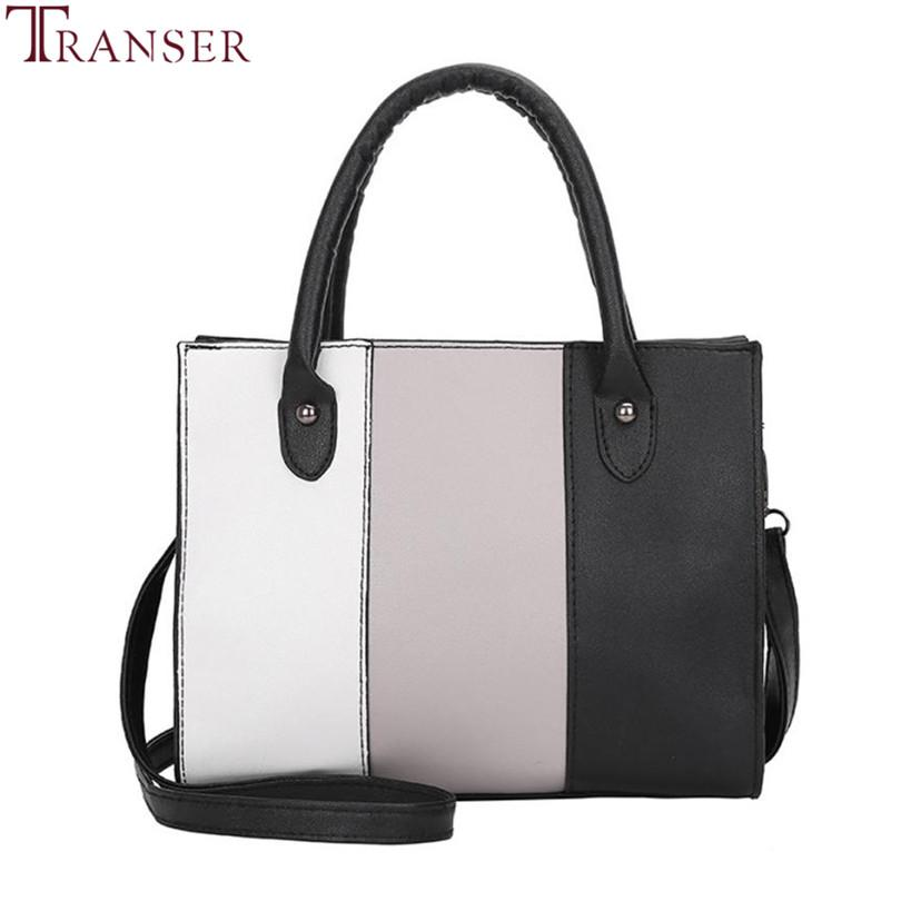 3f9b4436de1 Transer Luxury Woman Leather Tote Casual Package Crossbody Bags Hit ...