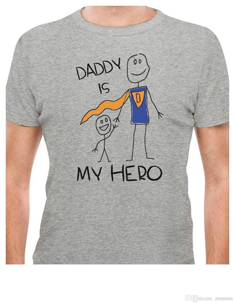 Großhandel 2018 Mode Lässig Streetwear Teestars Daddy Ist Mein Held ...