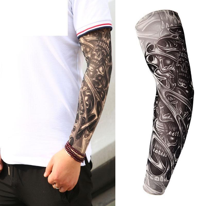 Compre 2018 Homens Tatuagem Braço Unisex UV Correndo Ciclismo Esportes  Elasticidade Compressão Braço Aquecedores Warmer Basquete Mangas Queda De  Ogfashion 3db5a827ed0f2