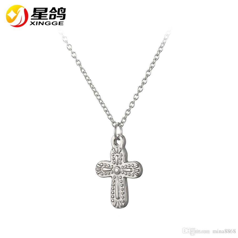 New Christian Jewelry Handmade stainless steel Cross Pendant Necklaces For  Women men Catholic Jewelry Gifts Wholesale