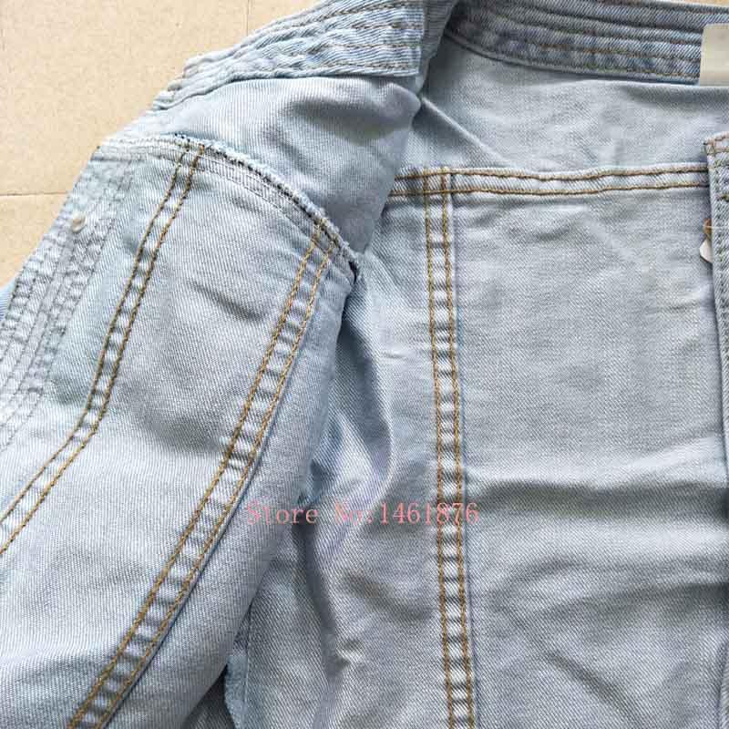 Primavera verano Vintage recortada chaqueta de mezclilla señoras abrigos de mezclilla clásico Jeans chaqueta mujeres de moda básica mujer chaquetas Outwear