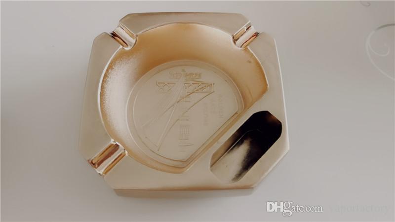 golden Creative Design portable Metal cigarette Ashtray Luxury vintage cigarette Accessories smoking cigarette Holder ash tray