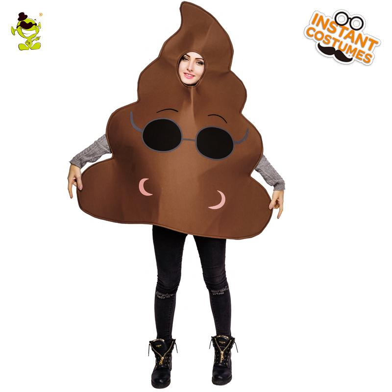 c6f994a55f 2018 New Funny Face Emoji Party Cool Poop Costume Sponge Clothes Fancy Dress  In Christmas Costumes Suit For Adults Mascot Adult Mascot Costumes Mascot  ...
