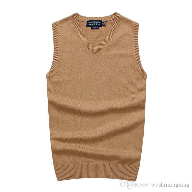 diversamente 70573 9d8a4 Maglioni del POLO del maglione della maglia del collo a V dei nuovi uomini  di alta qualità Maglioni caldi del maglione della maglia dell'uomo di ...