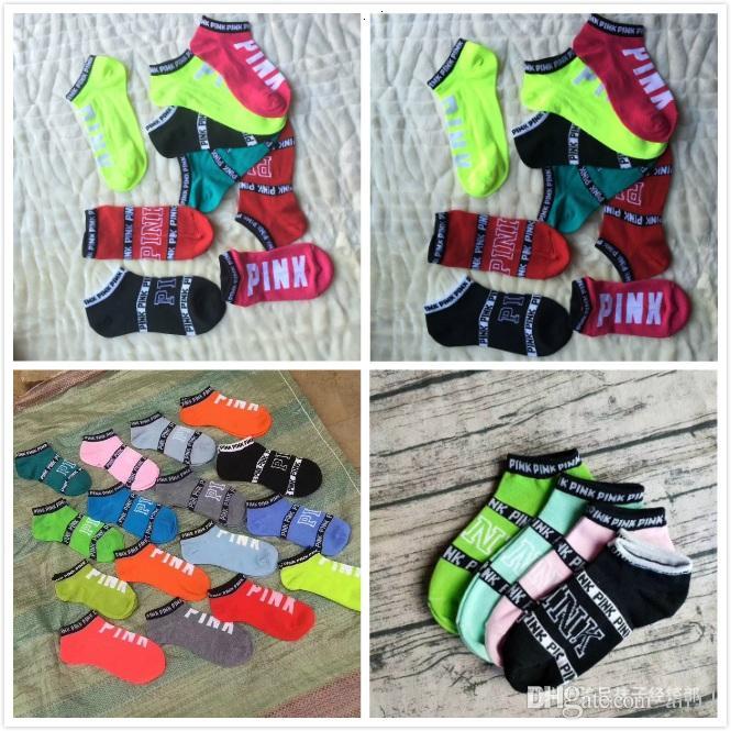 Liebe Rosa Söckchen Sport Cheerleader Kurze Socken Mädchen Frauen Baumwolle Sport Socken Rosa Skateboard Sneaker Strümpfe