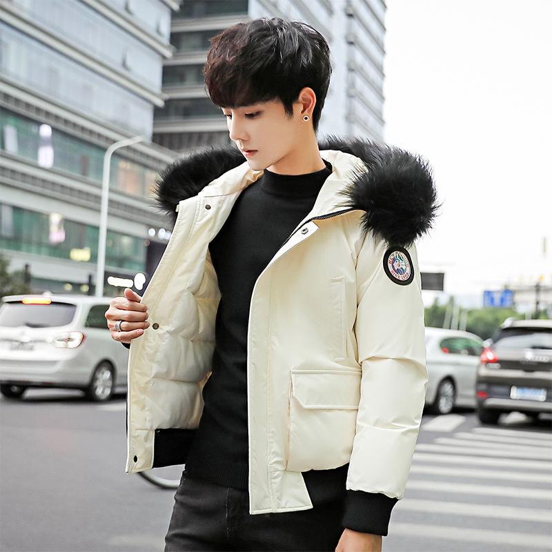 941d34081 Loose Fur Hoodies Winter Jacket Men Warm Pockets Casual Short Coat England  Style Slim Fashion Warm Male Parka