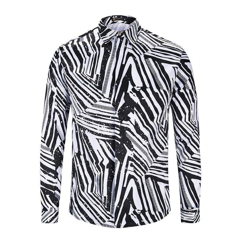 c86f9b75 Italian Brand Medusa Men's Long-sleeved Shirt Men's Casual Shirt ...