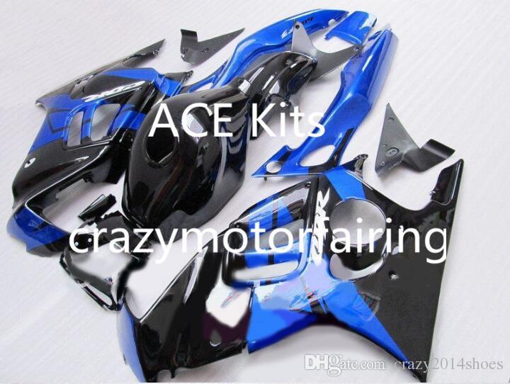 Kit de carenado de motocicleta para HONDA CBR600F3 97 98 CBR600 F3 CBR 600F3 1997 1998 ABS Hot Azul Negro Carenados conjunto + 3 regalos 39