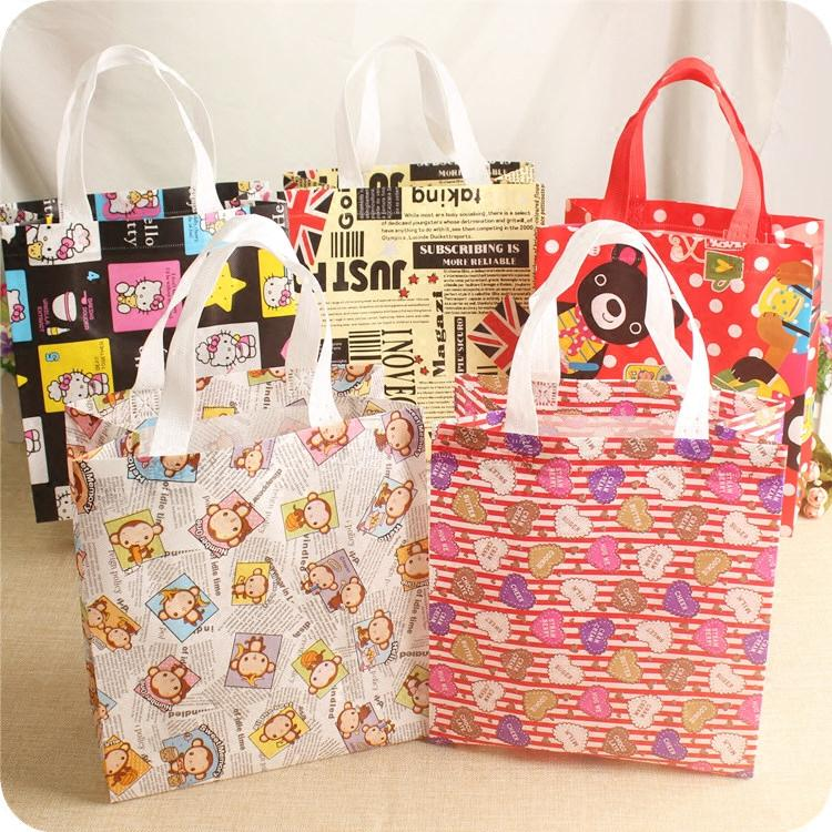 b09290fcdd Non Woven Bags Cartoon Animals Receive Gift Bag Leisure Environmental  Protection Shopping Bag Lunch Box Package Folding Shopping Bags Recyclable  Bags From ...