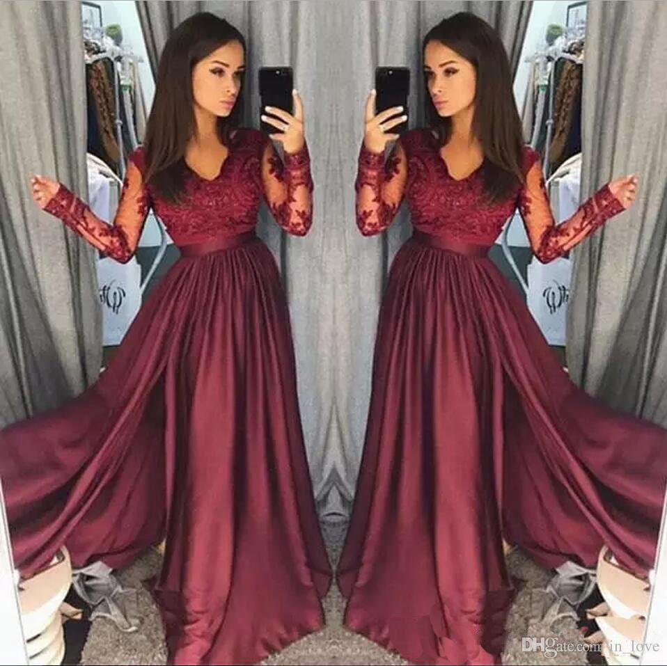 Vestidos casuales color rojo vino