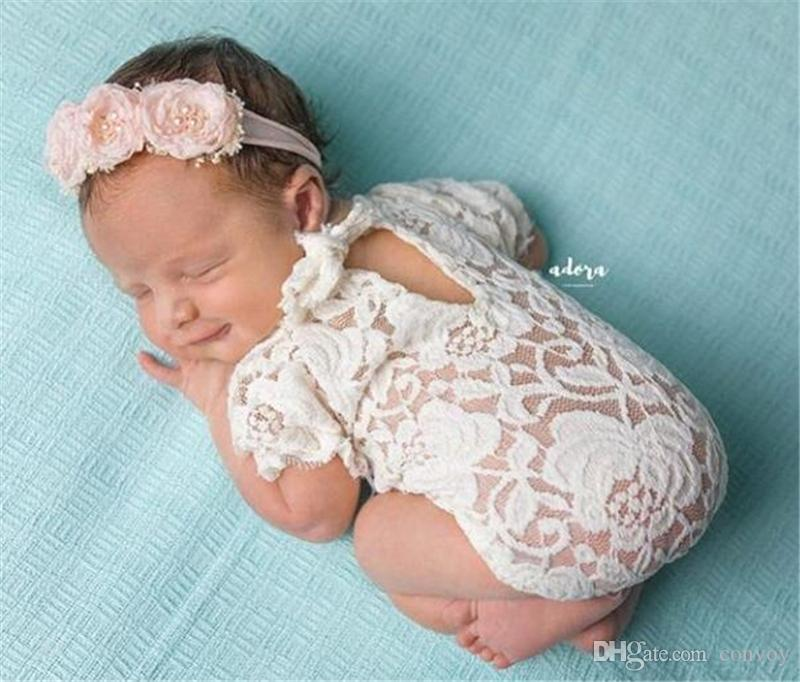 06c4a82a429d 2019 Newborn Baby Lace Romper Photography Rompers Baby Girl Cute Petti Bow  Jumpsuits Infant Toddler Photo Clothing Soft Lace Bodysuit 0 3M KBR08 From  Convoy ...