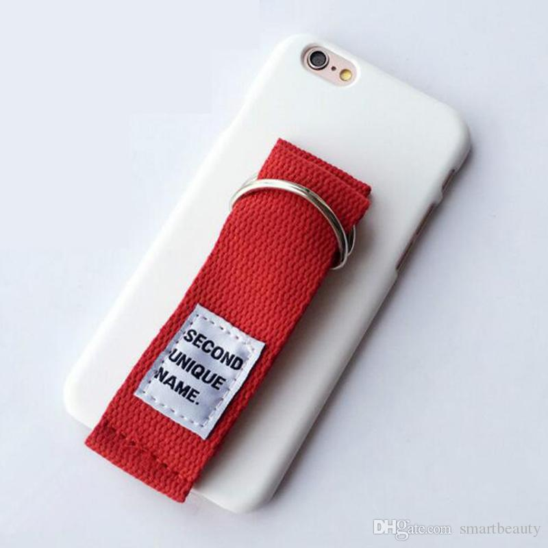 Korean Second Unique Name Canvas Arm Belt Tassels Hard PC Case Cover For Iphone 6 6S 7 Plus in Several Colors