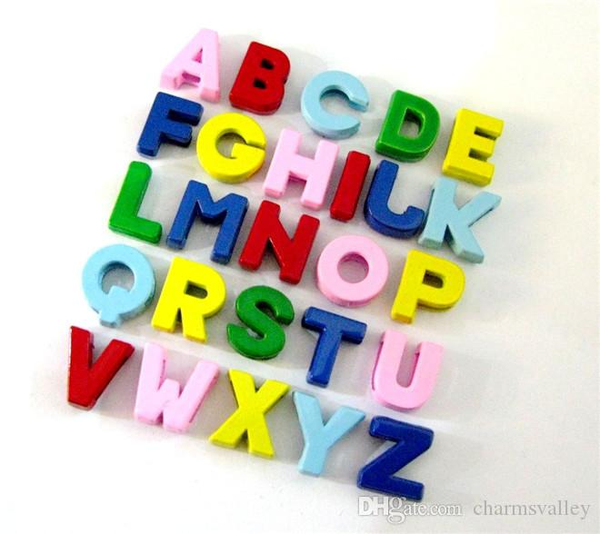130PCS/Lot 8MM Colorful Spray Painting Slide Letters A-Z Alphabet DIY Slide Charms Fit 8MM Wristbands Bracelets Belts Collars