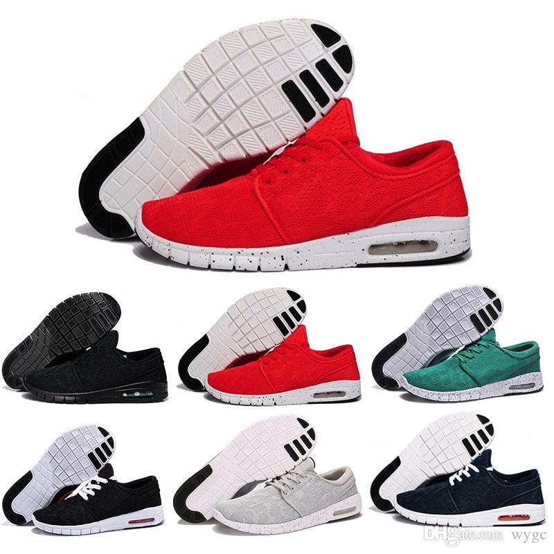 newest 51a35 b3718 2018 Cheap Men Women Fashion Sb Stefan Janoski Running Shoes Black Grey  Athletic Walking Sports Shoes Sneakers Shoes Size 36 45 Running Shoes For  Men ...
