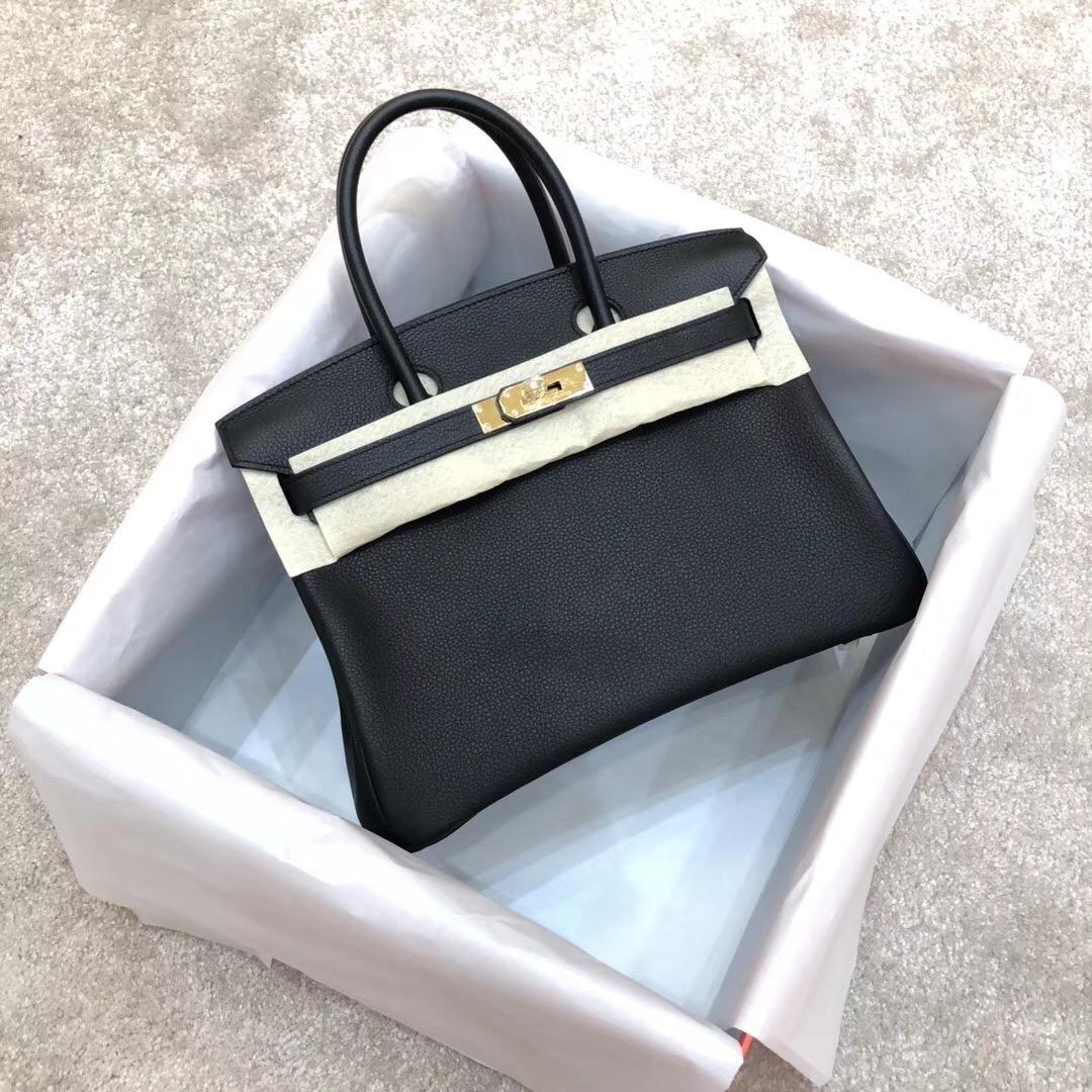 6dbaa7c658c4 знаменитый дизайнер 100% ручной вышивки черный togo реальная кожаная сумка  роскошный классический BK женщин натуральная кожа плеча большая сумка ...