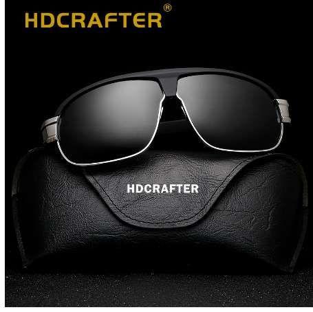 7f0234a742 HDCRAFTER Pilot Sunglasses Men Polarized Uv400 High Quality Male Sun  Glasses Men Retro Vintage Polarized Driving Sunglasses Black Sunglasses  Cycling ...