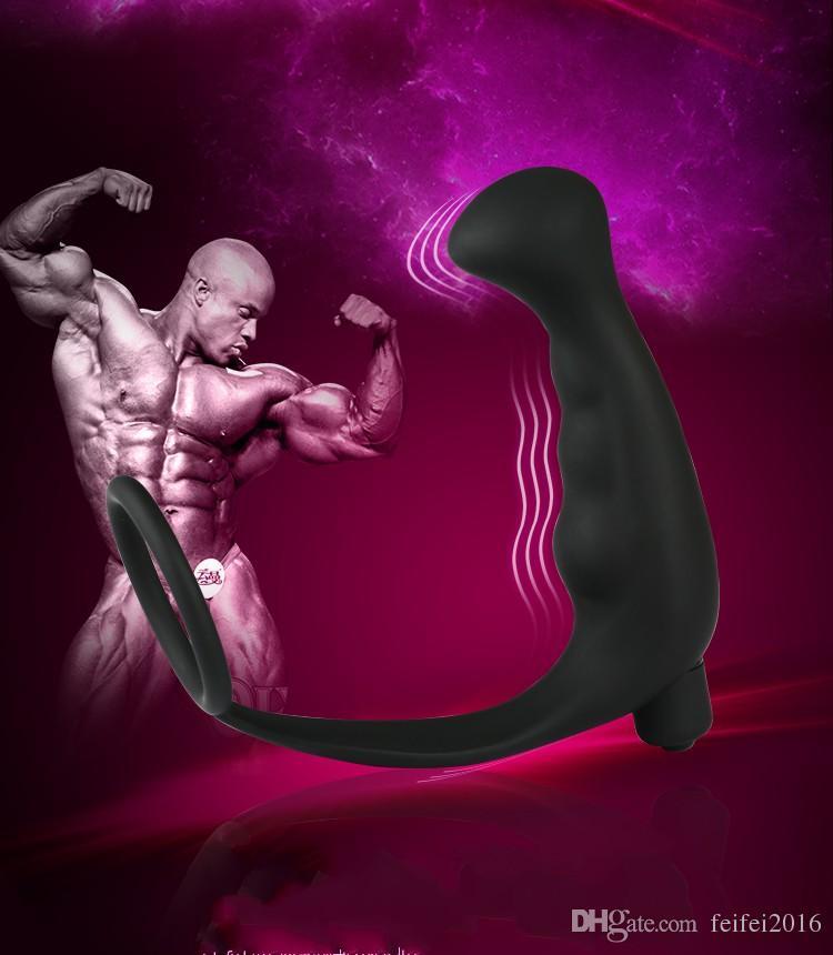 Männlicher Prostatamassager-Mann-Höhepunkt-Fantasie-Silikon-Hahn-Ring-analer Zerhacker-Kolben-Stecker für Männer geben Verschiffen frei