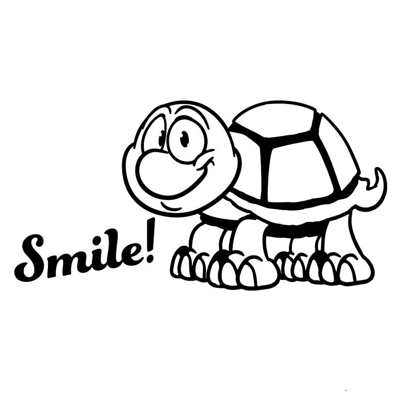 Car Sticker Smile With Cute Tortoise Turtle Sticker Fun Marathon