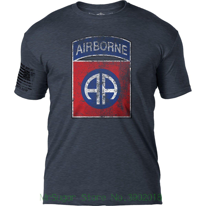 7.62 Design Army 82nd Airborne Division  Distressed  Patriotic Men S T  Shirt Men Short Sleeve Tee Og T Shirt T Shrt From Mrsugarstore 0fec24d9f