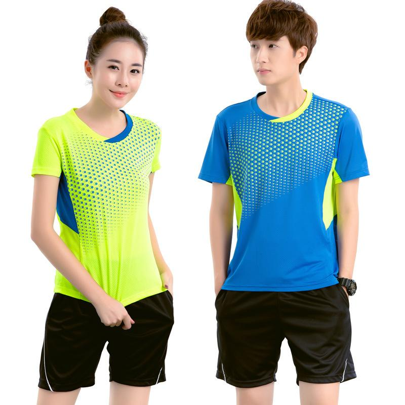 027eb90816b 2019 New 2018 Badminton Suits Men  Women  Children Couples Tennis Jersey  Suits Polyester Fast Dry Ping Pong Shirts Shorts Table Tennis Sets M 4XL  From ...