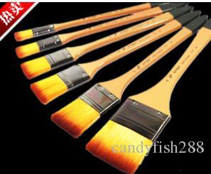 Boyama Malzemeleri Uzun çubuk naylon fırça boyama kalem fırça plakası guaj suluboya boya fırçası