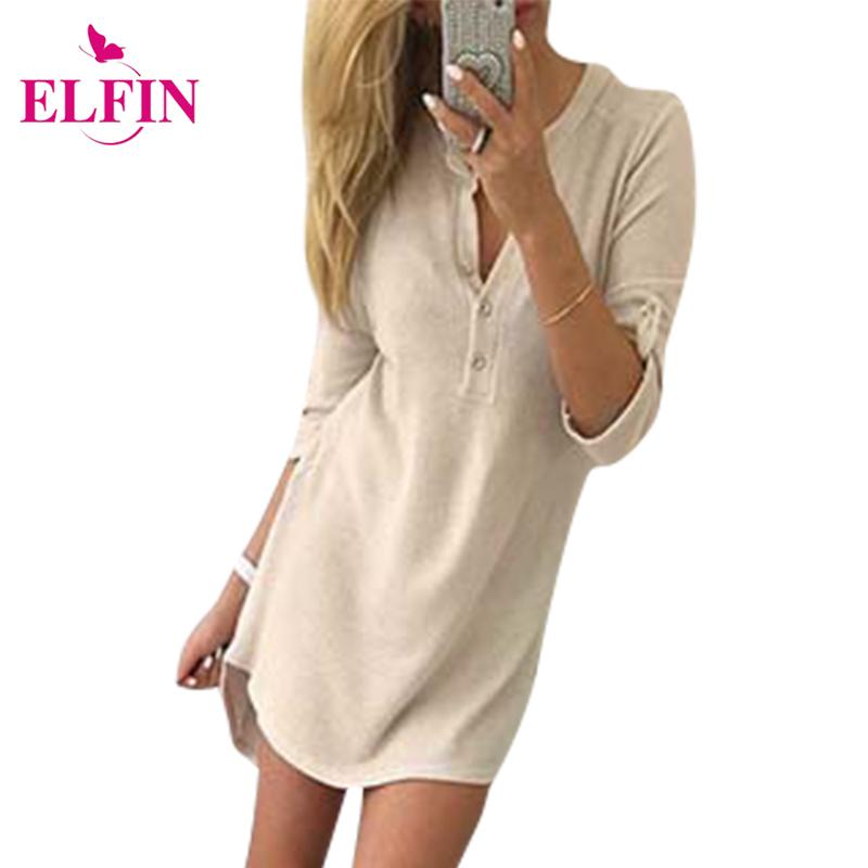 3f5bb017f89d7f 2019 Autumn And Winter Sweater Dress V Neck Warm Knitted Casual Mini Solid  Plus Size Cheap Clothes China LJ7214R D18102903 From Tai03