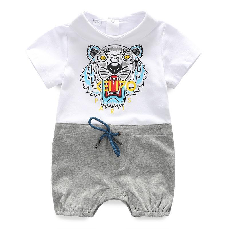 a6a5094328fb9 Acheter Bébé Tutu Robe Lin Tai Vêtements À Manches Courtes Chaque Mois Nouveau  Né Vêtements Pleine Lune Pur Coton Mince Bébé Tigre D été De  27.78 Du ...