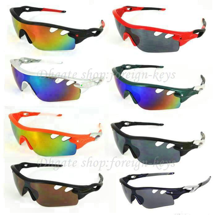 Högkvalitativ mixfärger Nya glasögon utomhuscykel Sport Solglasögon för män Kvinnor Half solglasögon Google Hot Beach Glasses.