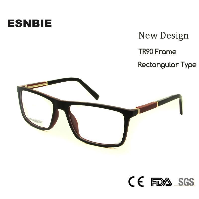 7760e5302f 2019 ESNBIE Rectangular Glasses Frames Men TR90 Nerd Oculos Greek Eyewear  Frames Men Clear Lens Women Lentes Opticos Hombre From Haydena