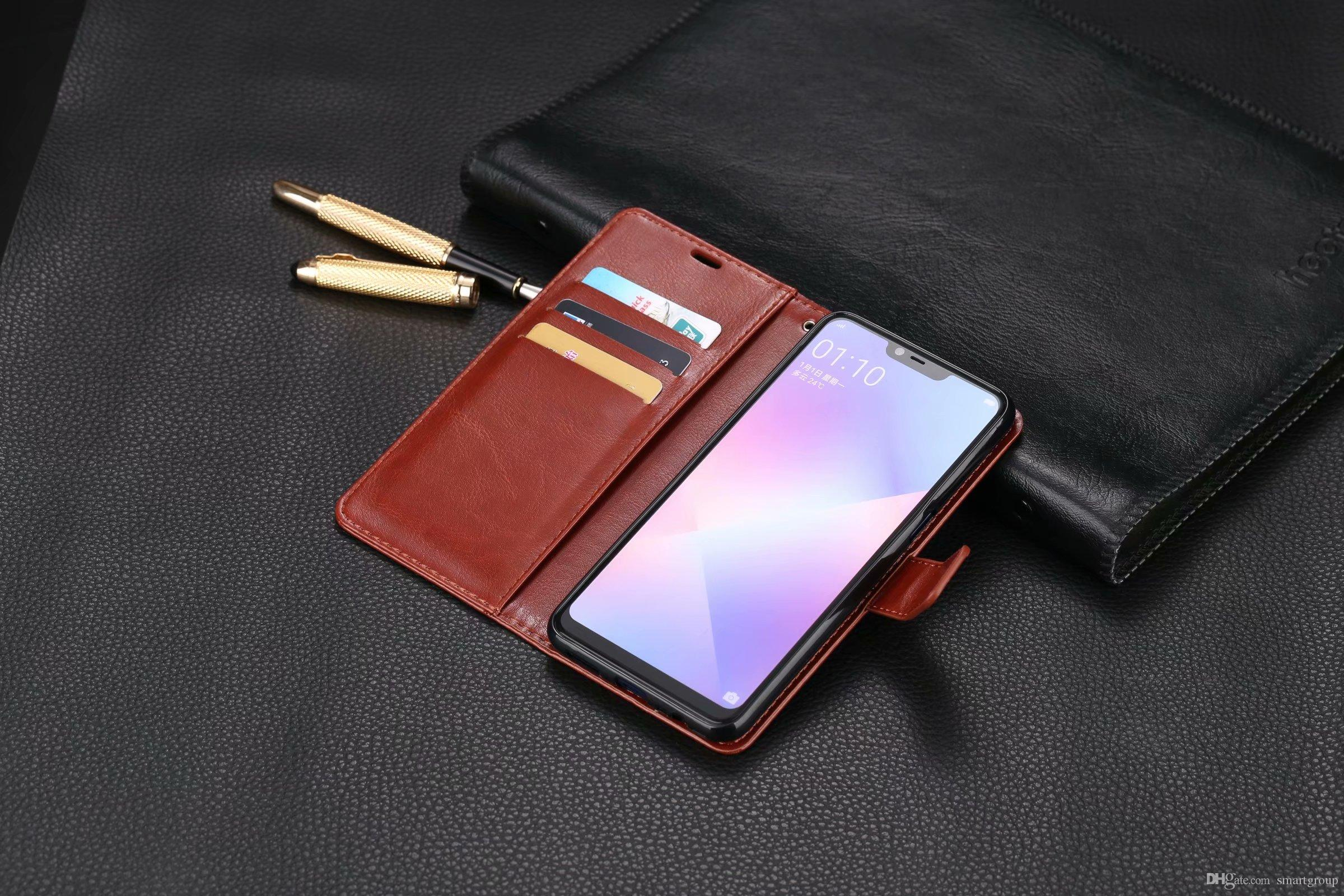 brand new cdca9 49937 For Oppo A5 Case Purse Clip Flip Cover Luxury Hot Original Stand Leather  Case For OPPO A5