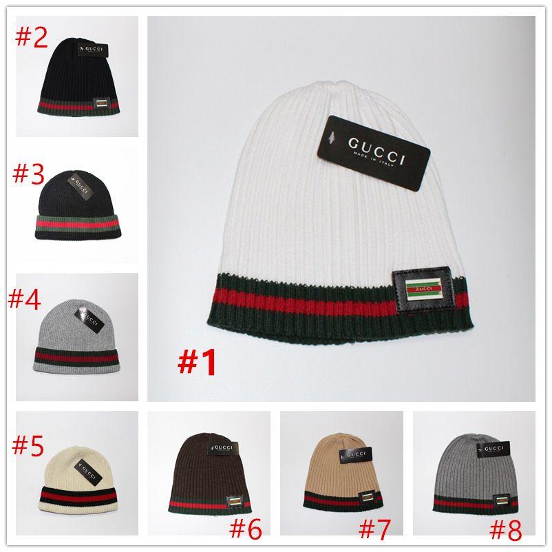 b2bee4e74b9ca 2019 Luxury Brand Caps Brand Designer Autumn Winter Hats Men Women Kids  Knitting Cap Christmas Gift From Spinner shop
