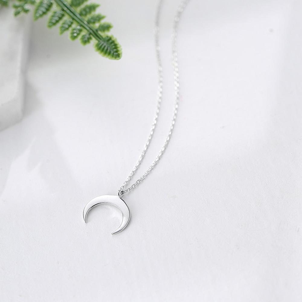Prelife Memory Chic Moon Collana Donna Curvo Half Crescent Moon Collane con ciondolo color oro argento Girocolli gioielli