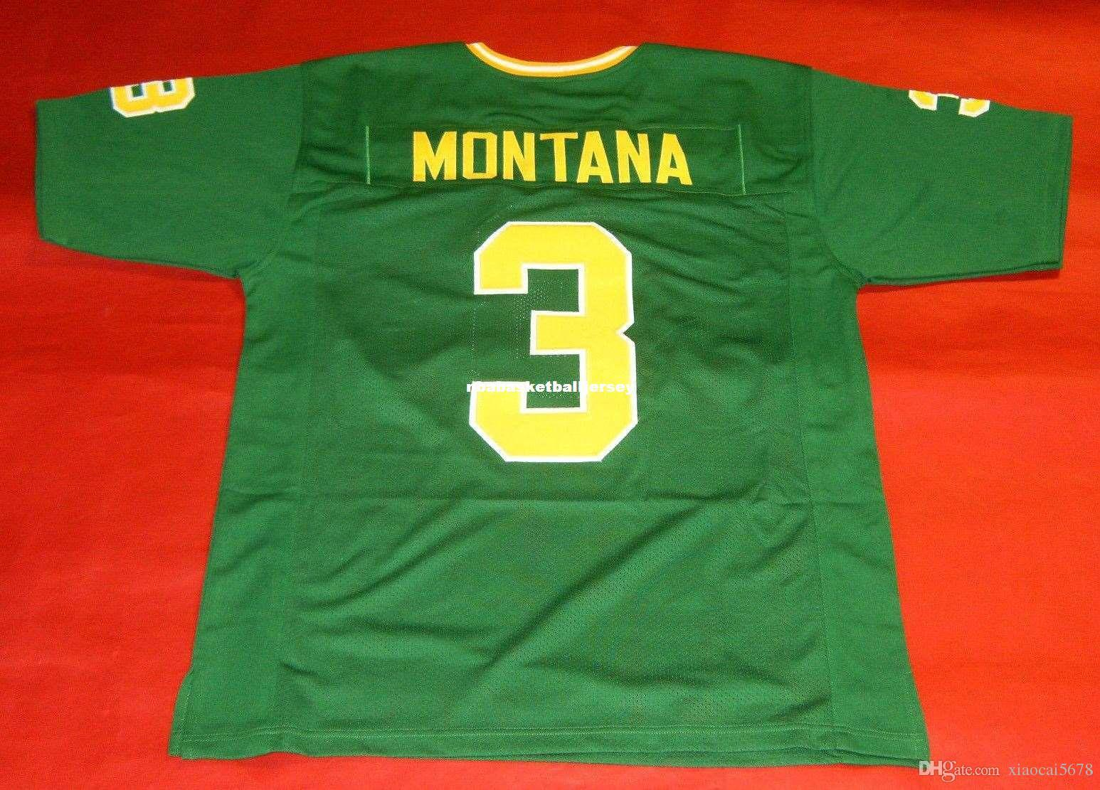 the latest d18a5 50c26 Cheap retro #3 JOE MONTANA CUSTOM NOTRE DAME FIGHTING IRISH Throwbacks  JERSEY green Mens Stitching Throwbacks Size S-5XL Football jerseys