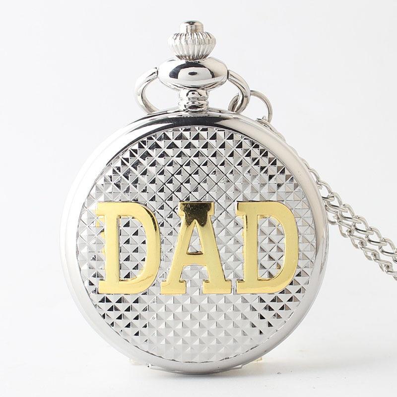 Großhandel Neue White Steel Dad Quarz Taschenuhr Halskette Für ...