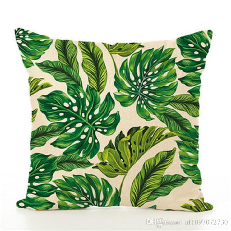 New Pillow Cover Hot Cotton Plant Flamingo Hug Pillowcase Digital Printing Sofa Cushion Cover Home Textile Home Decoration