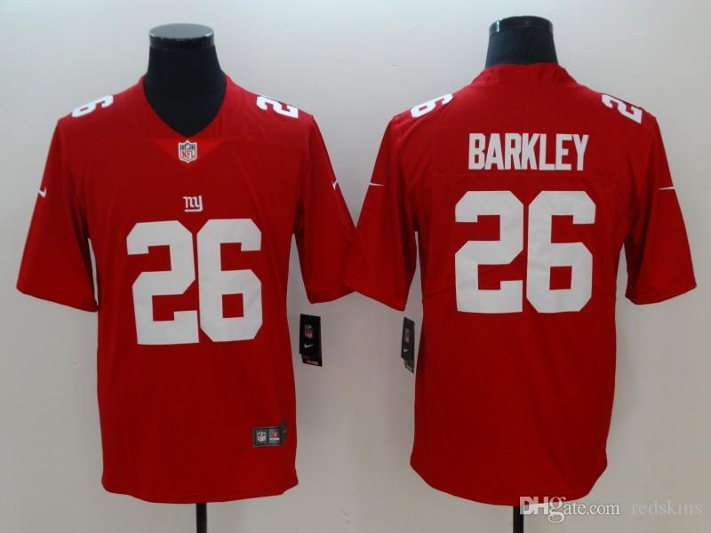 5e8e3d863e Compre Saquon Barkley Jersey Odell Beckham Jr New York Giants Eli Manning  Juego Personalizado Camiseta De Fútbol Americano Mujeres Hombres Jóvenes  Niños A ...