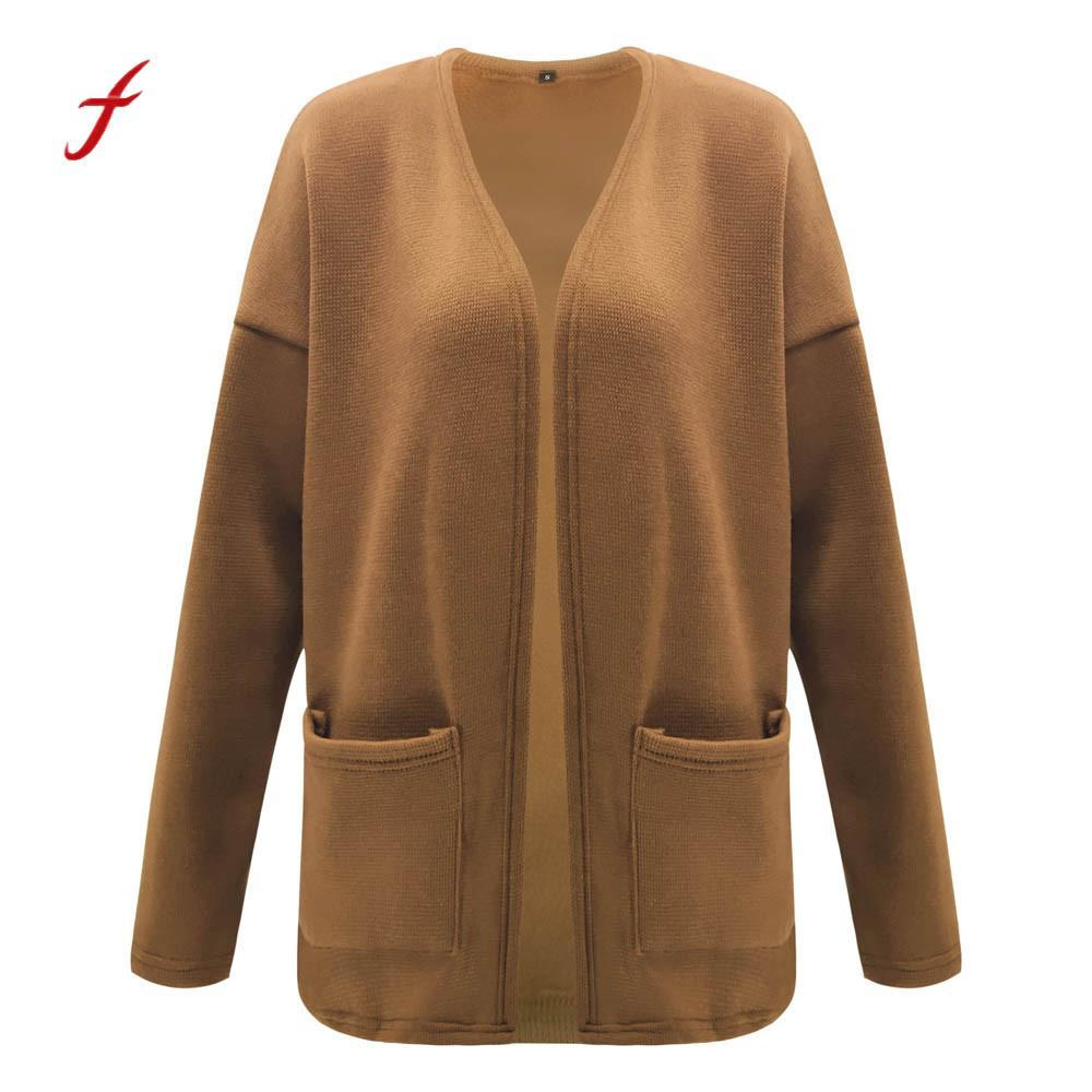 2019 Open Front Cardigan Sweaters Women S Long Sleeve Pure Color Coat Jacket  For Women Outwear Cardigan Coat Tops Femme Clothes From Watch2013 e2d1926aa